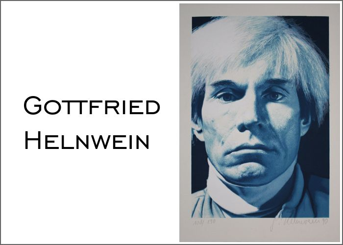Gottfried Helnwein: Andy Warhol, Limited Edition Print Lithography, 108 of 190, signed, numbered and dated