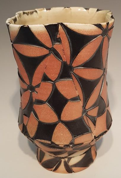Tulip and Flower of Life Yunomi - Material: Wood-Fired Porcelain