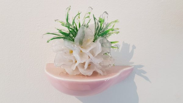 Floral Sculpture (Flower Wall Piece) No.6 - Reminiscent of spring flowers frozen in a snowstorm