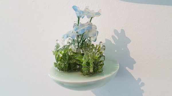 Floral Sculpture (Flower Wall Piece) No.8 - Reminiscent of spring flowers frozen in a snowstorm
