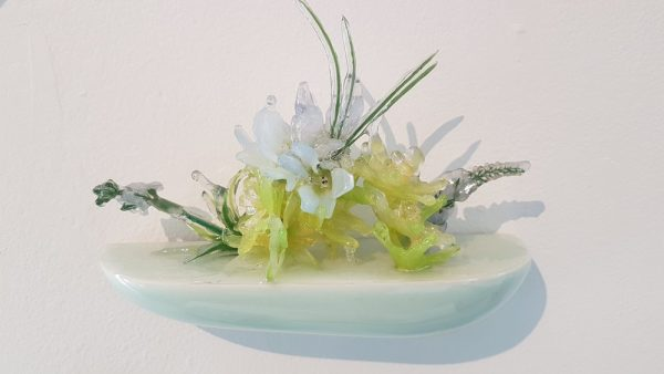 Floral Sculpture (Flower Wall Piece) No.10 - Reminiscent of spring flowers frozen in a snowstorm