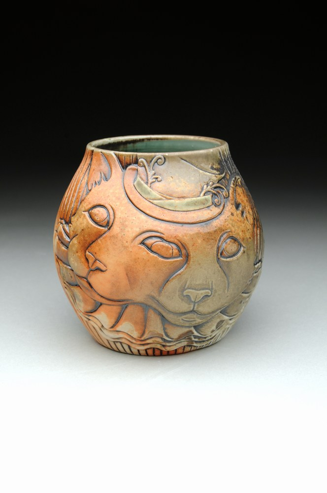 FrankenLouie Conjoined Cat Vase - Artist: Amy Young
