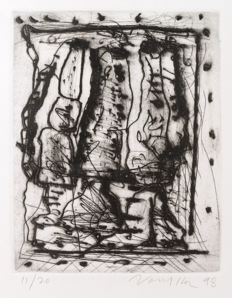 "Untitled Dry Point Etching CR 314-PR - ""Untitled Dry Point Etching CR 314-PR"""