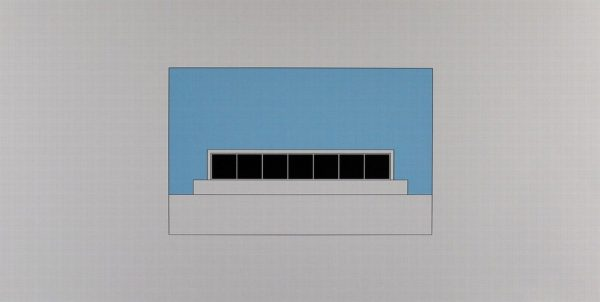 Komposition I aus: Hamburg 1992 (Composition from Hamburg 1992) - Color lithograph