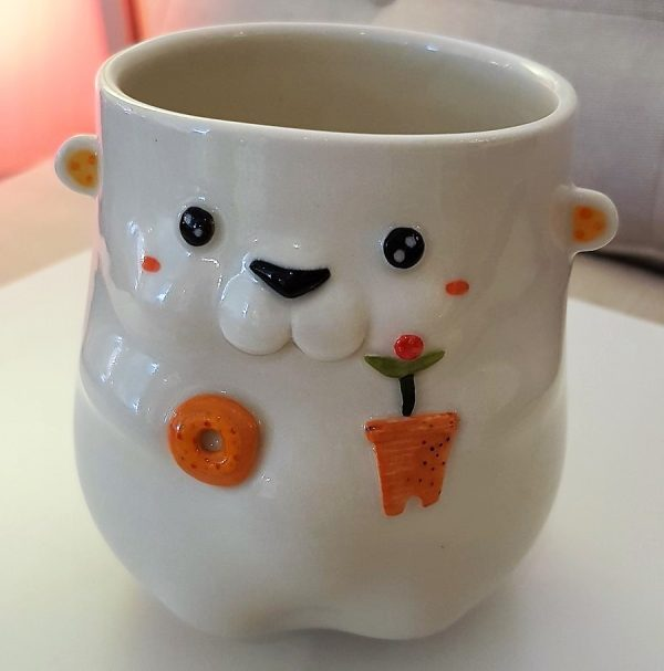 "Cup ""Polar Bear with a Donut"" - Title: Cup ""Polar Bear with a Donut"""