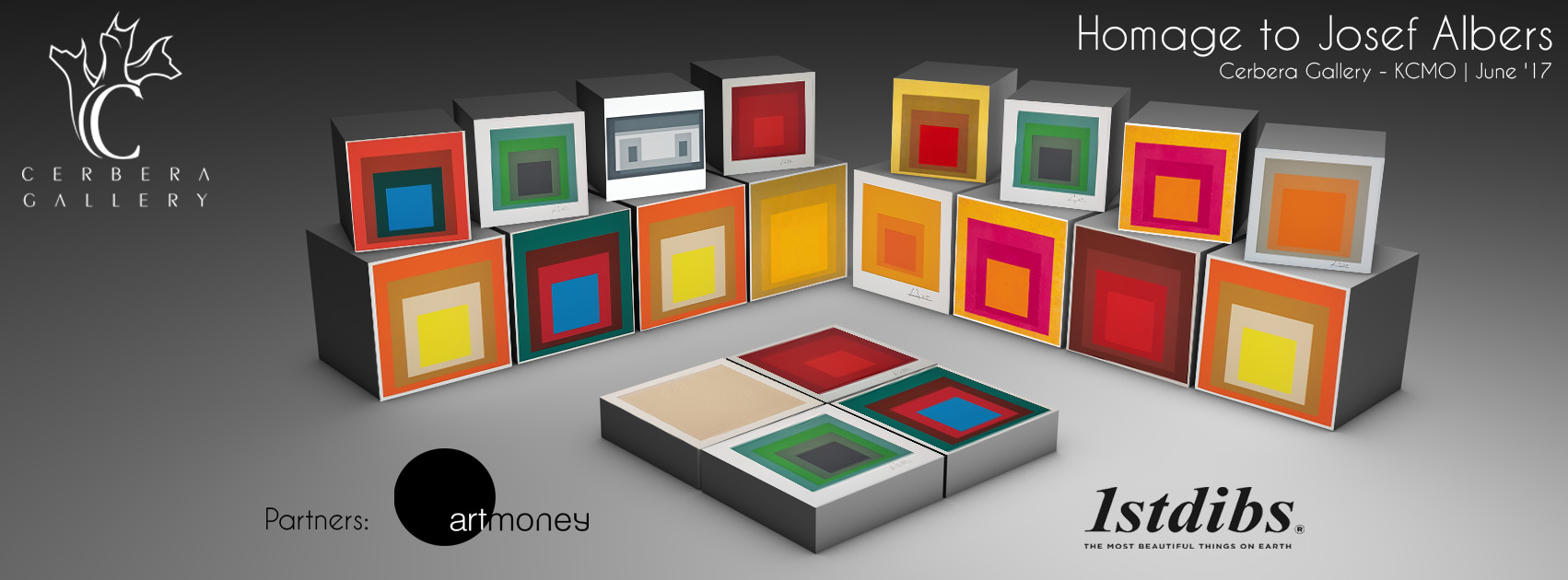Cerbera Gallery - Homage to Josef Albers & the Square