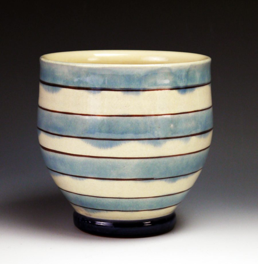 Striped Yunomi - Materials: Earthenware