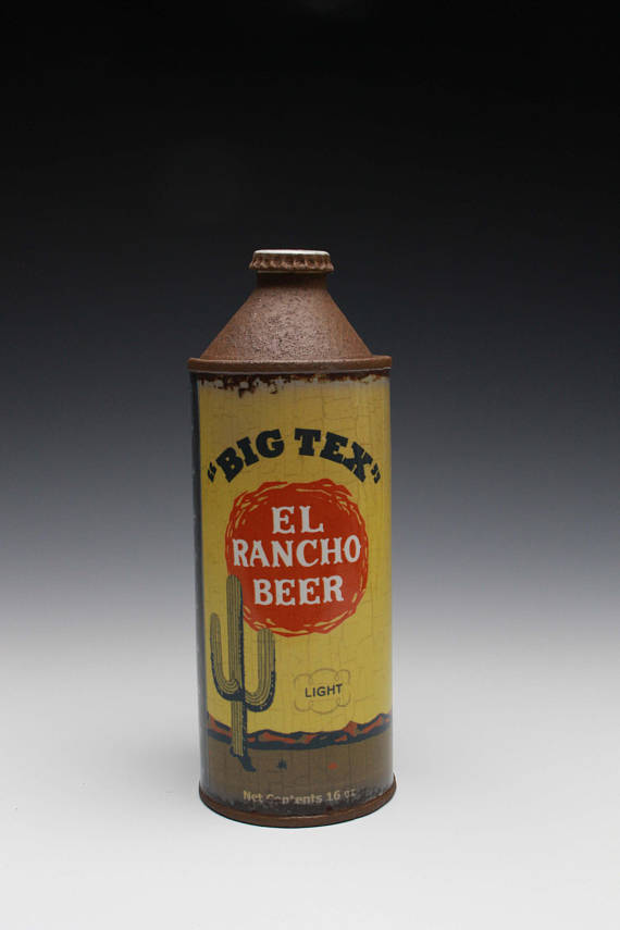 "El Rancho Cone- Top Bottle - Title : ""El Rancho"" Cone-Top Bottle"