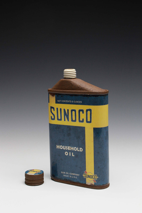 "Sunoco Flask - Title : ""Sunoco"" Offest Flask"