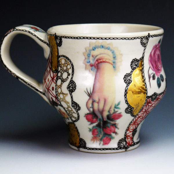 kaffee tasse coffee cup handpainted porcelain by melanie sherman buy online or in the. Black Bedroom Furniture Sets. Home Design Ideas
