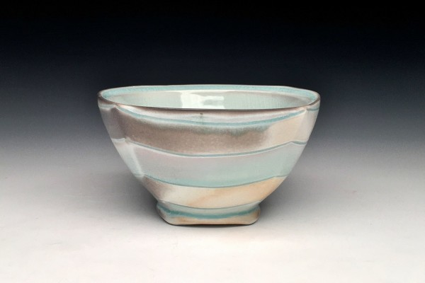 Celadon Chevron Bowl - Title : Celadon Chevron Bowl