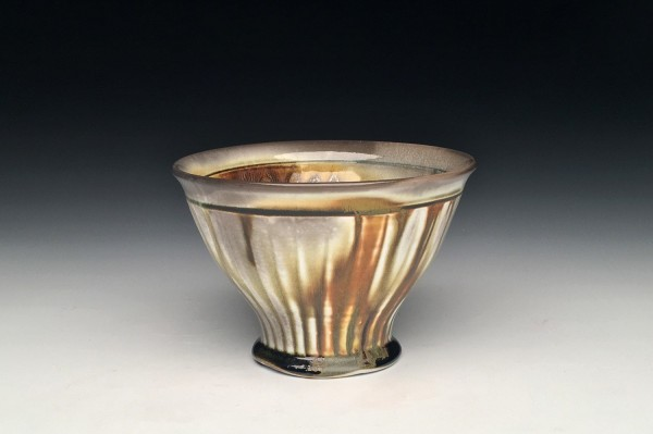 Amber Striped Bowl - Title : Amber Striped Bowl