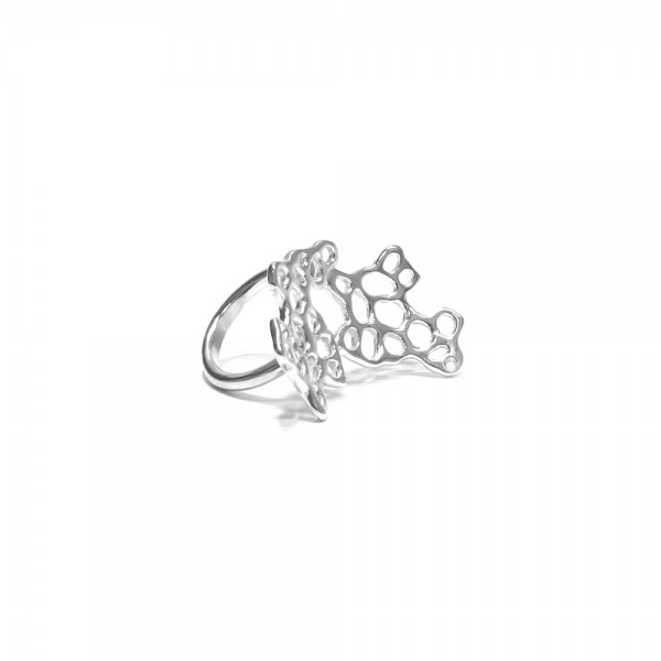 Sea Fan Set ring - Our multi-dimensional Sea Fan Set ring is a piece of coral you can wear on your finger. Handcrafted in sterling silver with exquisite detail and complexity