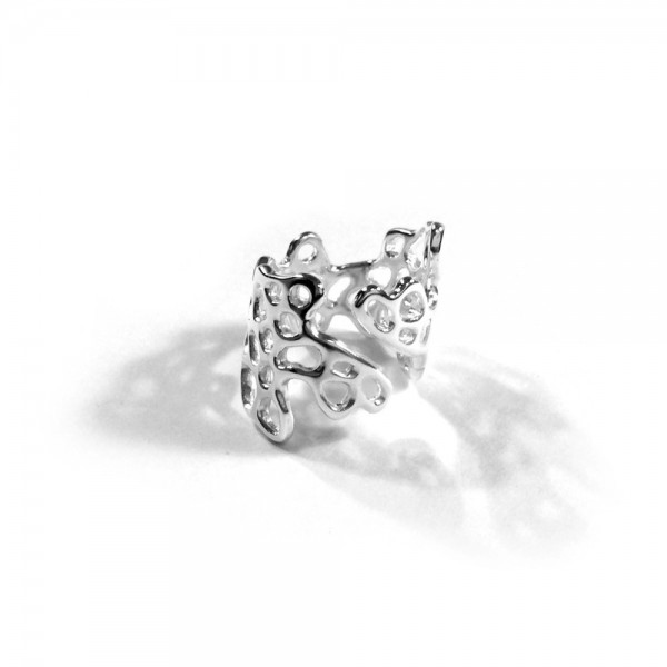 Sea Fan Wrap Ring - Our Sea Fan Wrap ring encases the finger in the organic patterns of coral life. Handcrafted in sterling silver