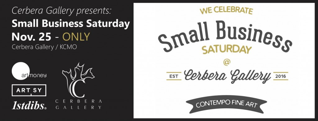Cerbera Gallery - Small Business Saturday Banner