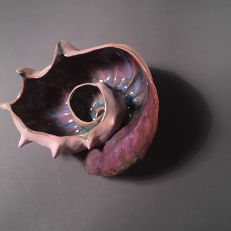 Meditation bowl inspired by a conch shell - Title : meditation bowl inspired by a conch shell