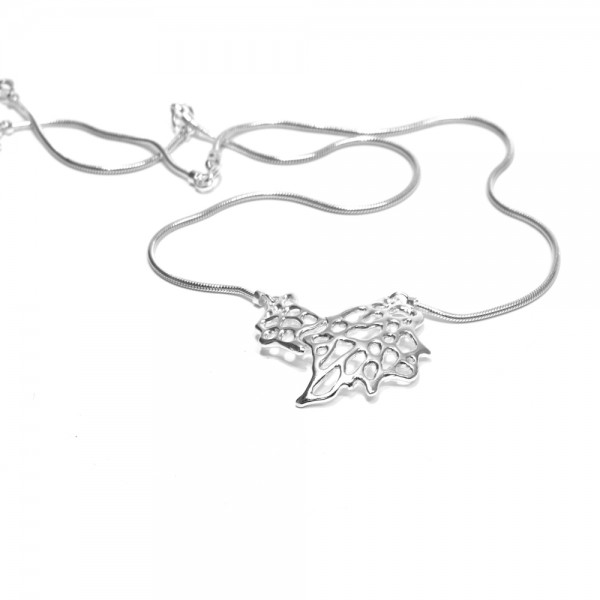 Sea Fan Pendant - This beautifully detailed Sea Fan pendant is handcrafted in sterling silver and features a silver snake chain. Inspired by the organic shape of coral