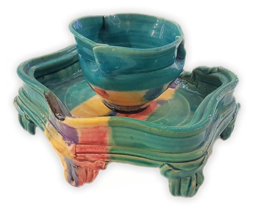 Tea Bowl (Cup) & Stand - Betty Woodman (1930-2018)