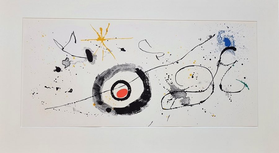 Abstract Composition (One plate from Derrière le Miroir no. 128: Peintures Murales de Miró ) - Joan Miró