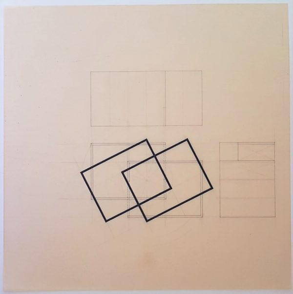 Untitled (Geometric Construction Drawing) - Katsuhito Nishikawa