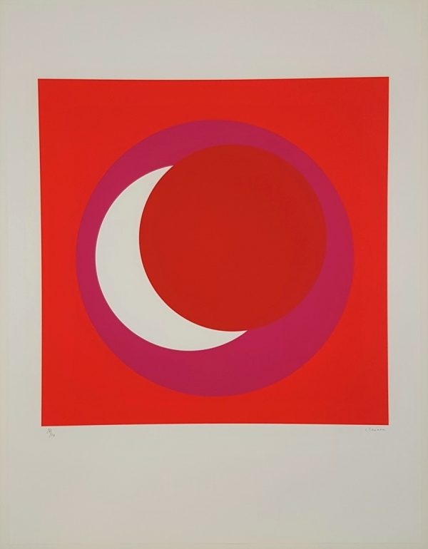 Red and Pink Circle (Cercle rouge/rose) - Geneviève Claisse