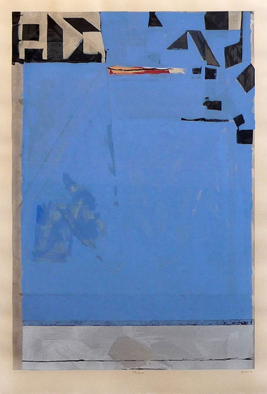 Blue with Red - Artist: Richard Diebenkorn
