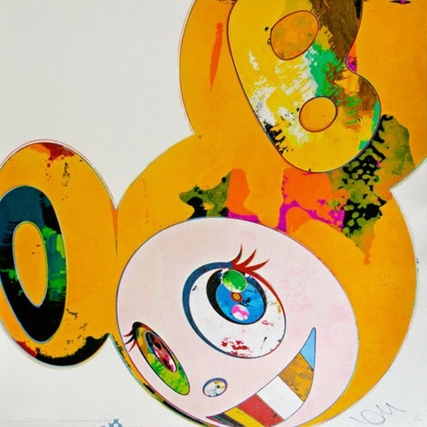 And Then x6 Yellow Universe - Takashi Murakami