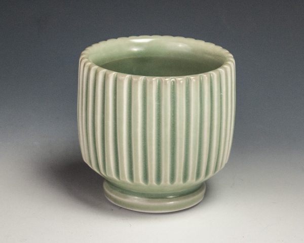 "Carved Green Cup - Size: 3"" x 3"" x 3"" - by Steven Young Lee"