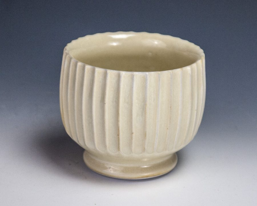 "Carved Yellow Cup - Size: 2.75"" x 3"" x 3"" - by Steven Young Lee"