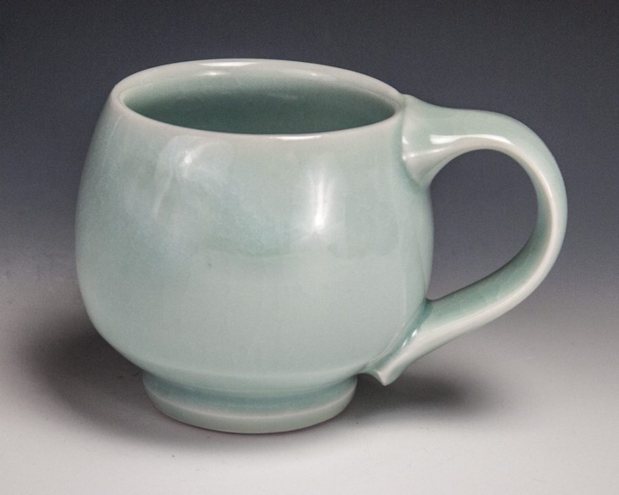 "Blue Mug - Size: 3.25"" x 5"" x 3.5"" - by Steven Young Lee"