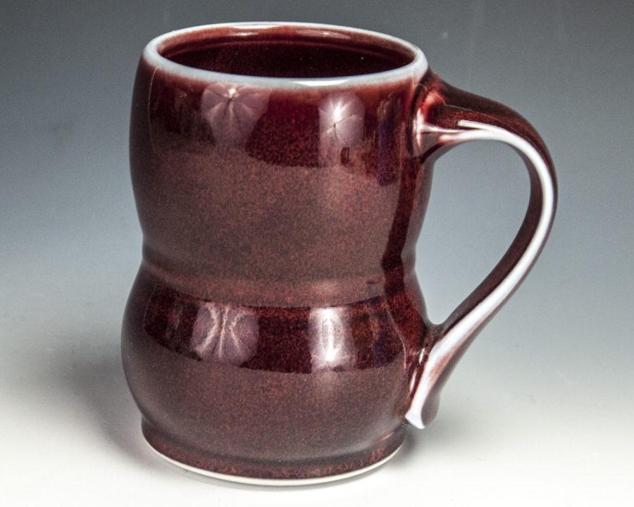 "Red Tall Mug - Size: 4.5"" x 4.75"" x 3.25"" - by Steven Young Lee"