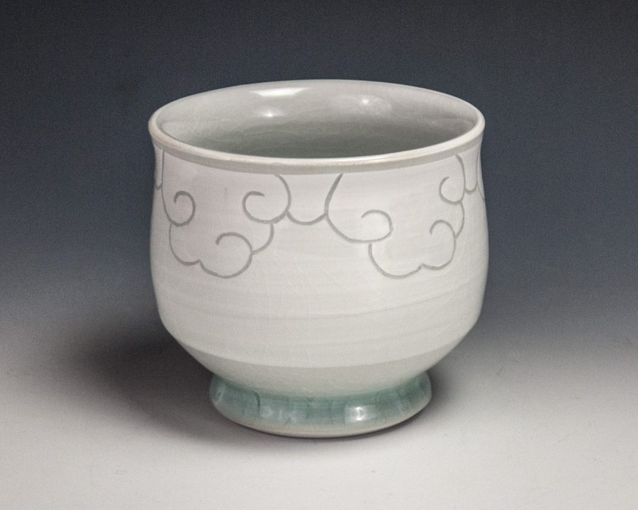Sgraffito Cloud Cup -  - by Steven Young Lee