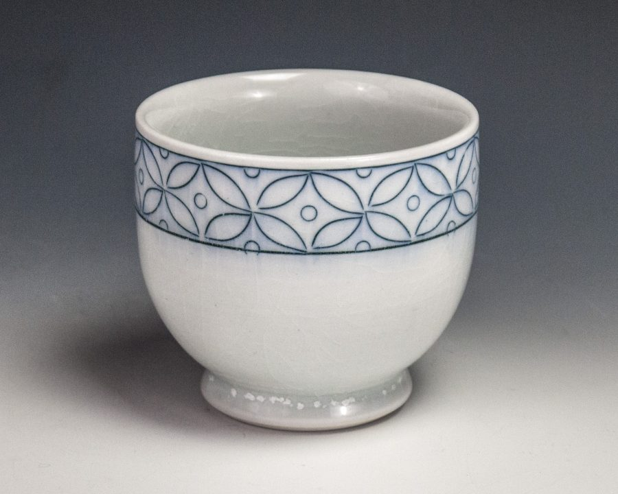 "Sgraffito Seed Cup - Size: 3.25"" x 3.5"" x 3.5"" - by Steven Young Lee"