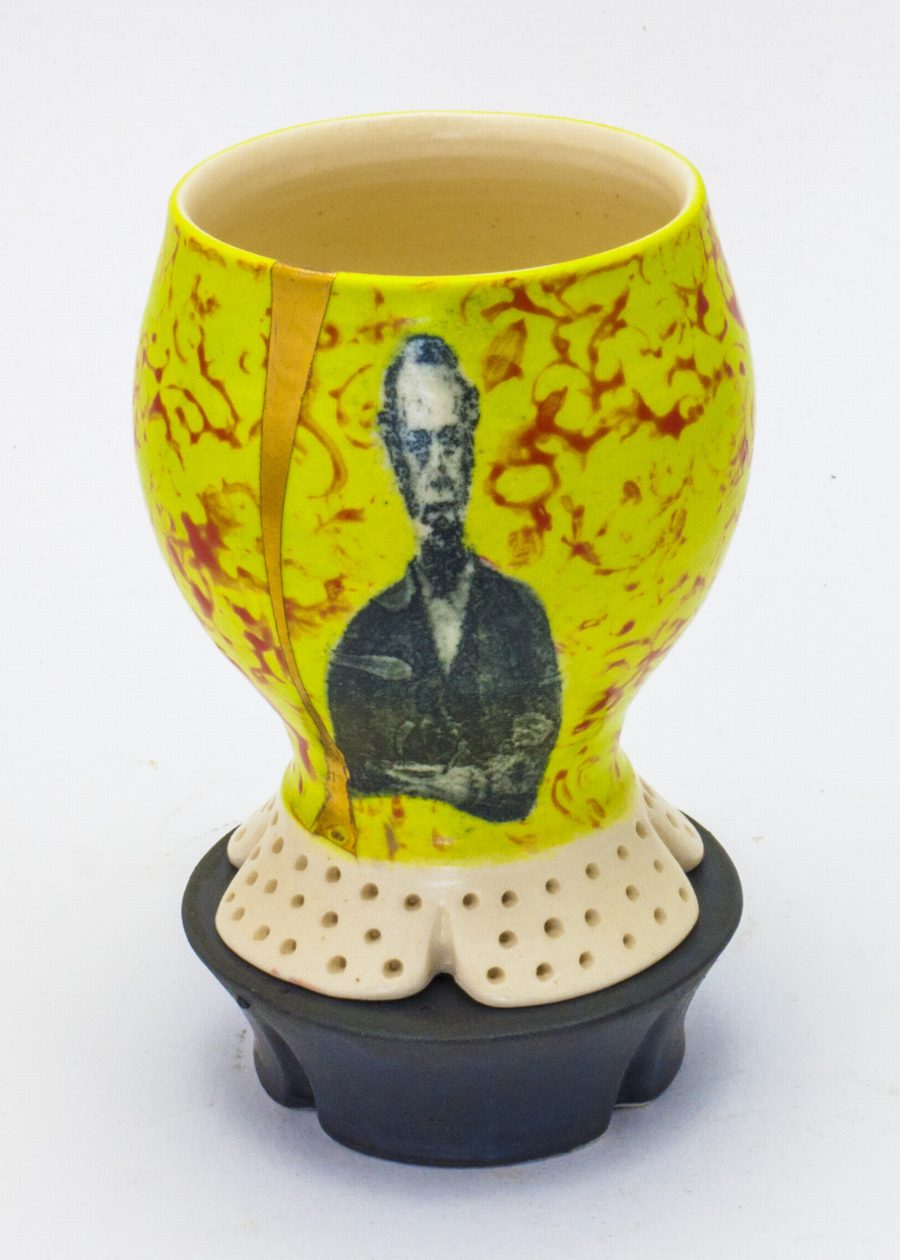 Lithograph printed cup with stand - Theresa Robinson