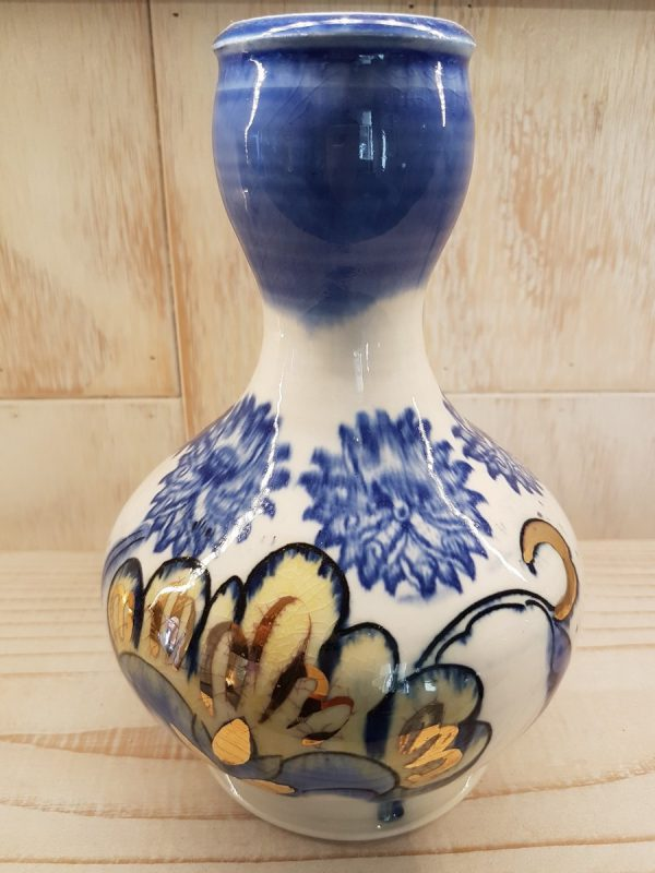 Bud Vase (blue top) - Bud Vase (blue top) - by Mariko Brown Harkin
