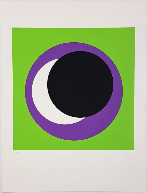 Black and Purple Circle (Cercle noir/lilas) - Geneviève Claisse