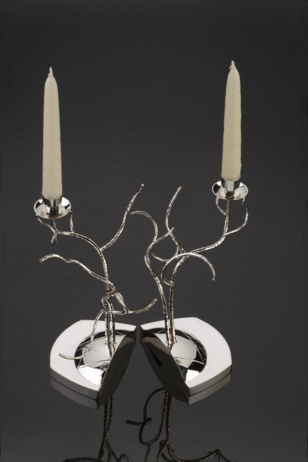 Tree of Life Shabbat Candlesticks - Title : Tree of Life Shabbat Candlesticks