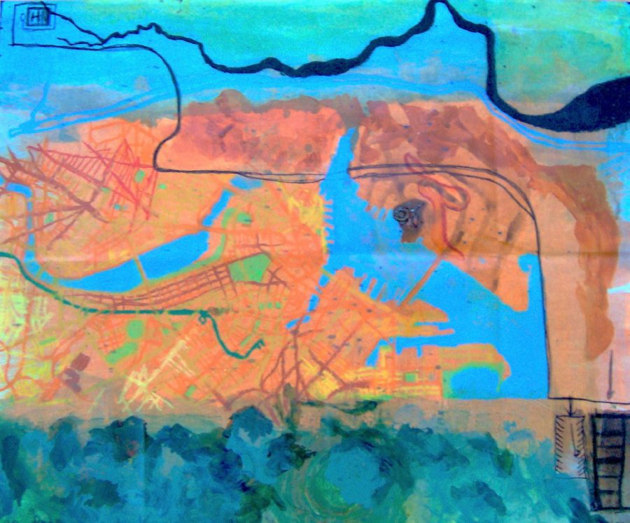 Map from Home to Kaz's Gallery - Title : Map from Home to Kaz's Gallery