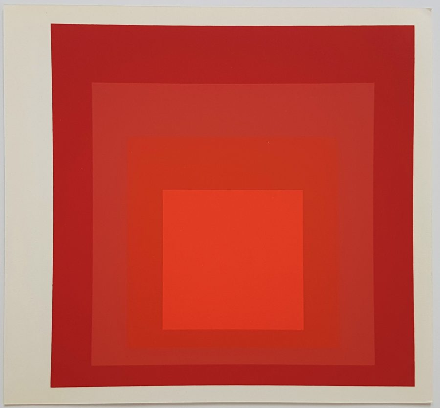 Homage to the Square: R-III A-4 - Screenprint in brilliant Colors on strong wove paper double folded