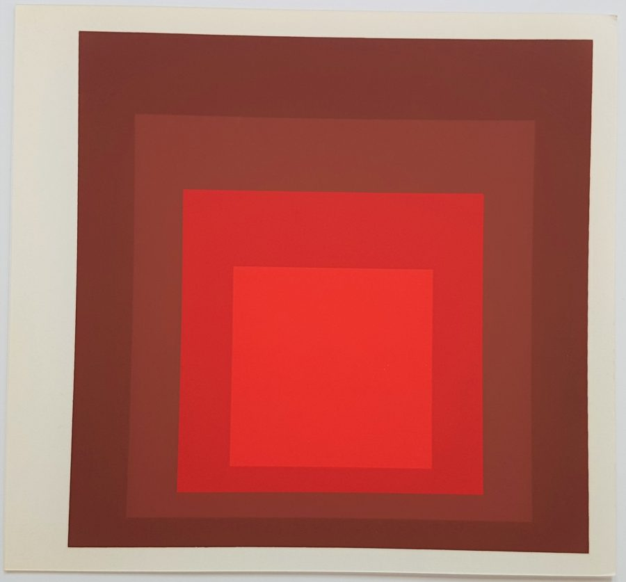 Homage to the Square: R-I D-5 - Screenprint in brilliant Colors on strong wove paper double folded