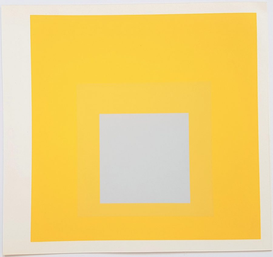 Homage to the Square: Selected - Screenprint in brilliant Colors on strong wove paper double folded