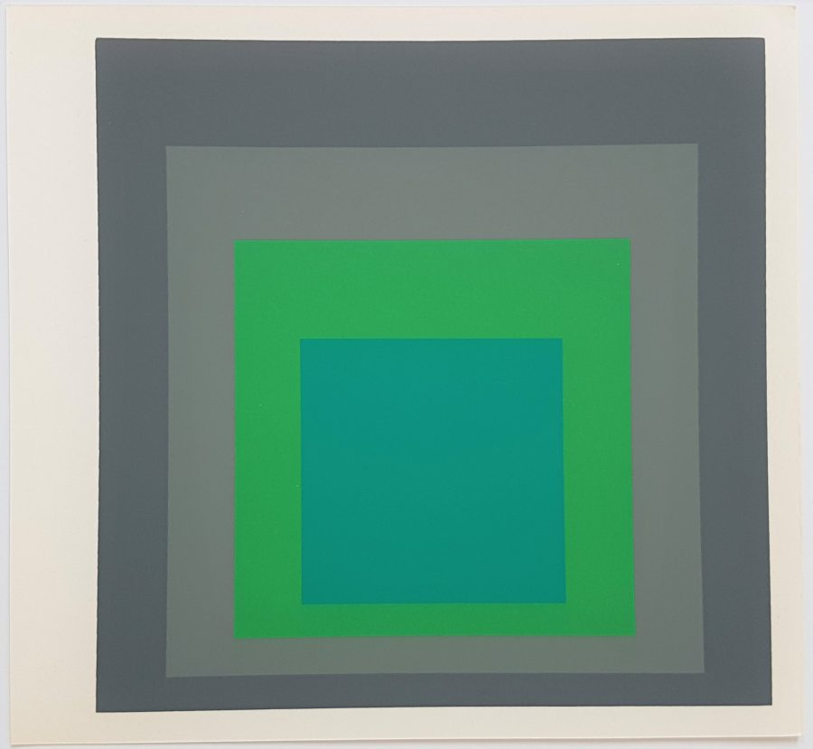 Homage to the Square: Renewed Hope - Screenprint in brilliant Colors on strong wove paper double folded