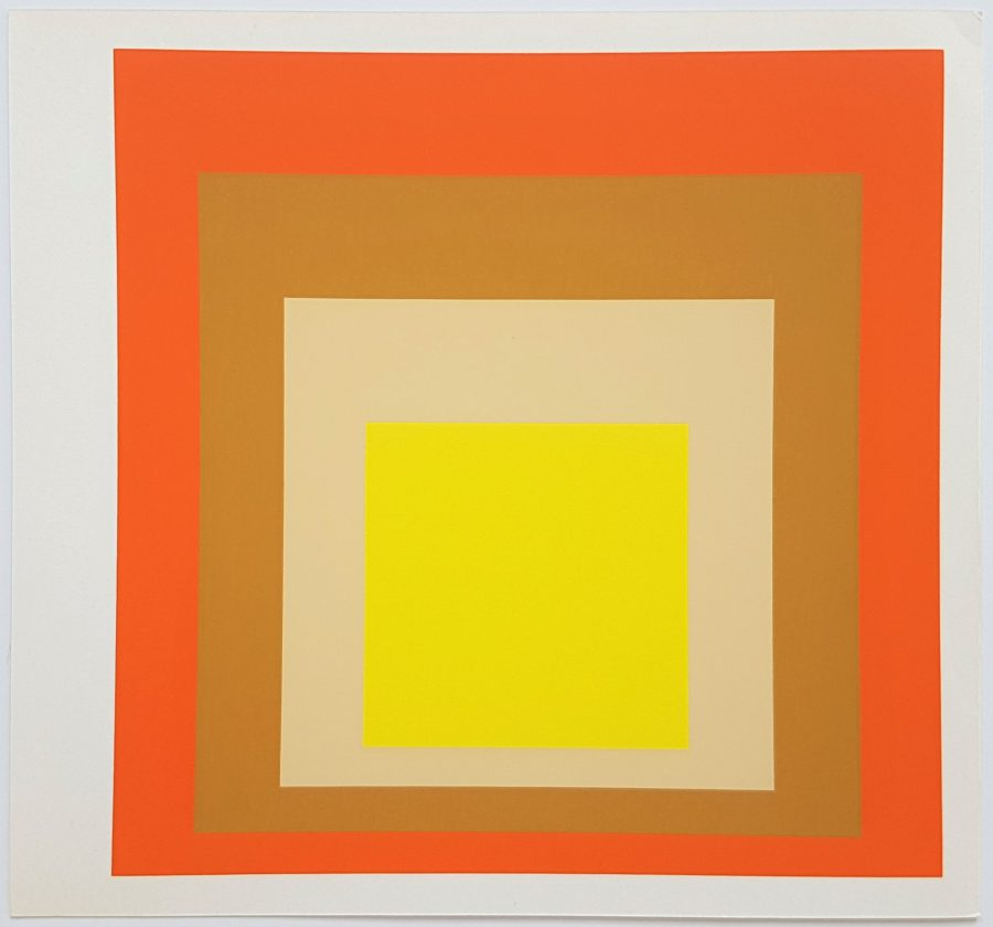 Homage to the Square: Yes Sir - Screenprint in brilliant Colors on strong wove paper double folded