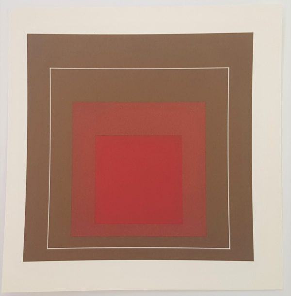 White Lines Squares - Lithograph in brilliant Colors on paper