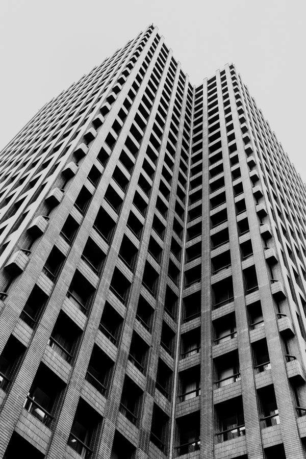 "Building in Black and White - Pablo Saccinto                              Title: ""Building in Black and White"""