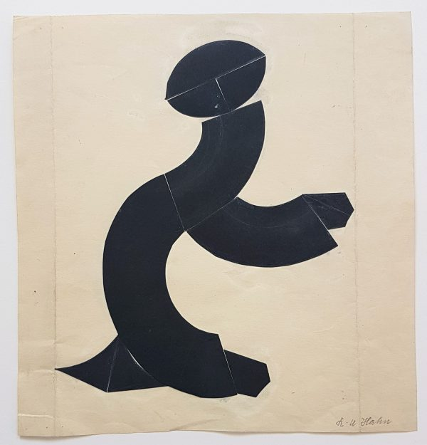 Figure (gestural abstraction) - Helmut Hahn