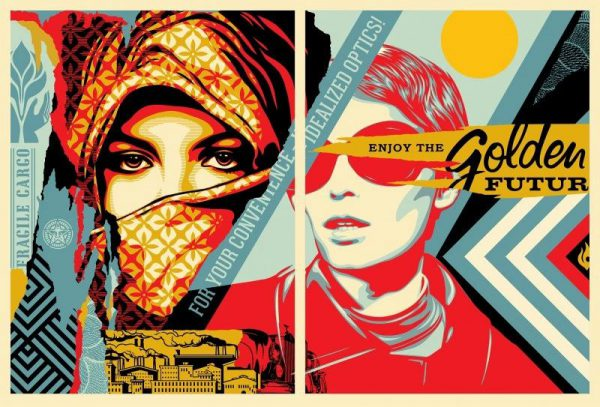 Golden Future For Some - Shepard Fairey
