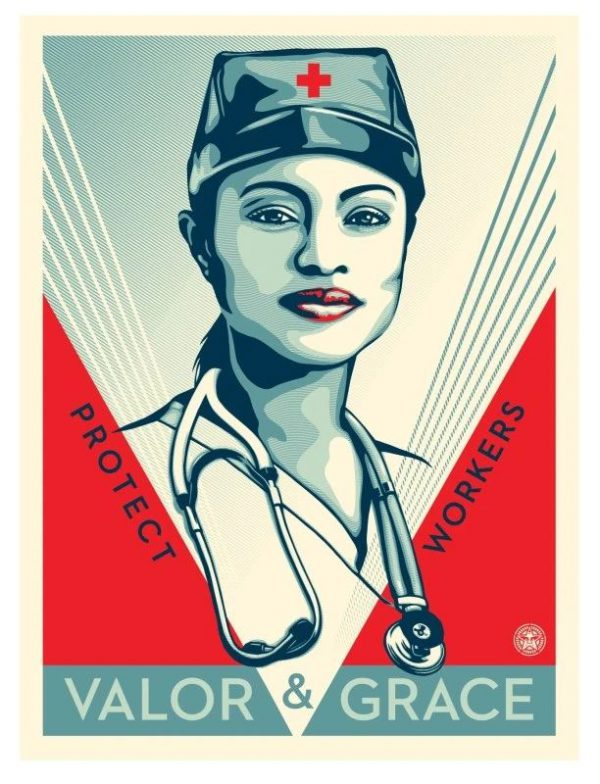 Valor and Grace Nurse - Shepard Fairey