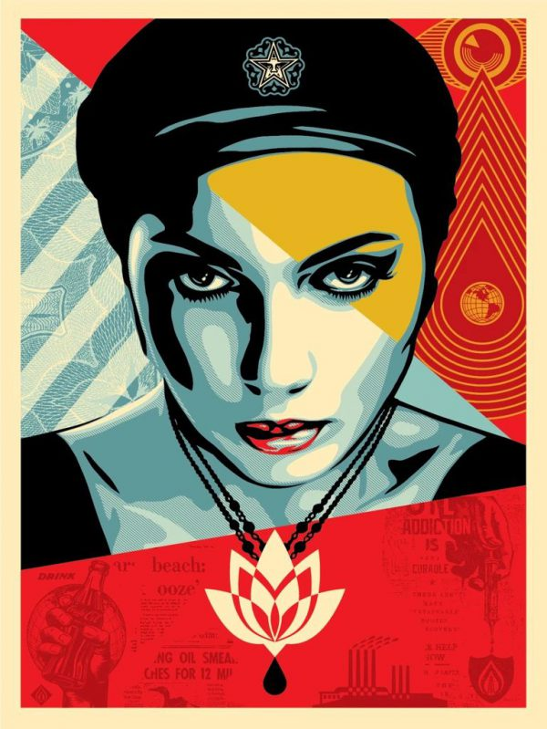 Oil Lotus Woman - Shepard Fairey