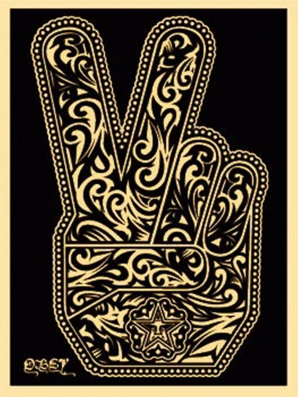 Peace Fingers - Shepard Fairey